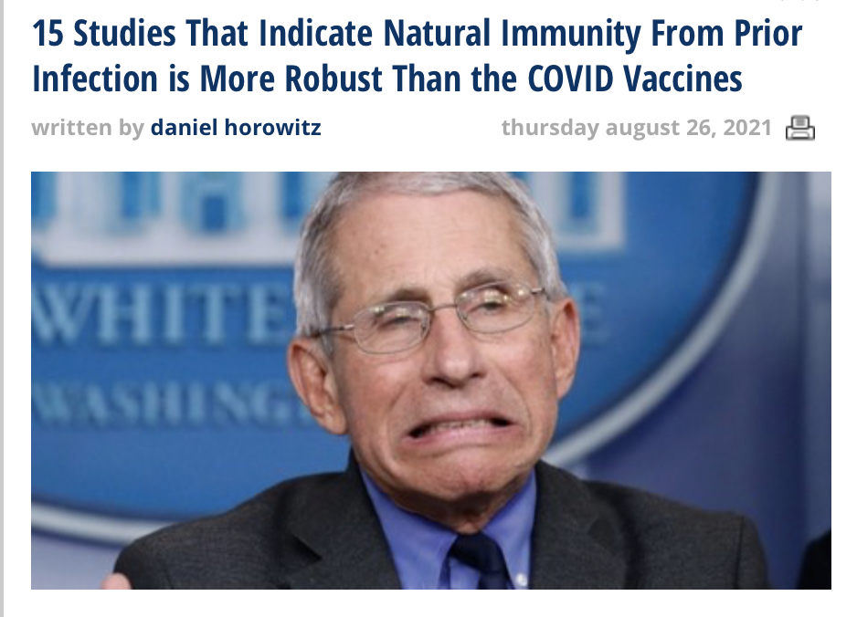 15 Studies That Indicate Natural Immunity From Prior Infection is More Robust Than the COVID Jabs